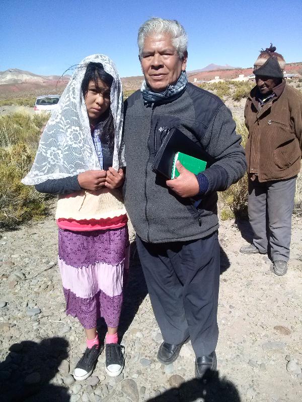 hermana bautizada en Cusi Cusi