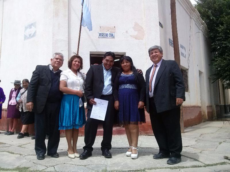 un nuevo matrimonio en La Quiaca